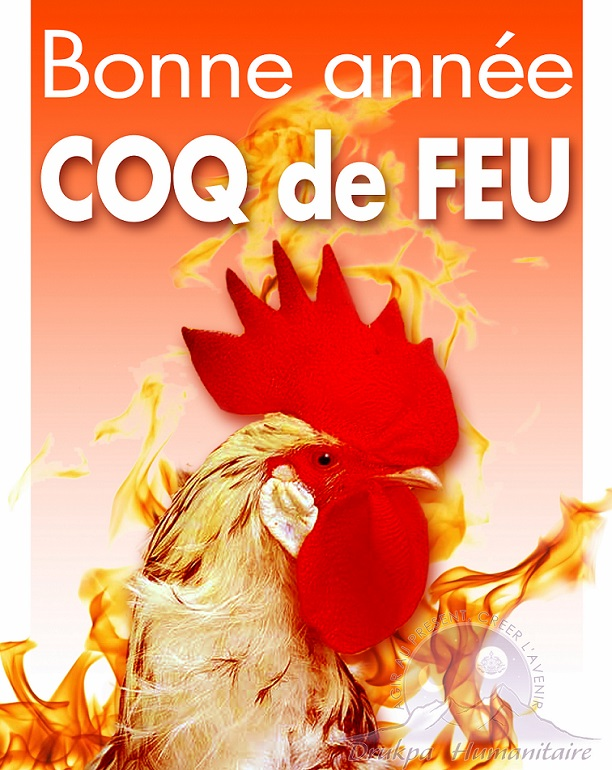 Bonne Année Coq de Feu