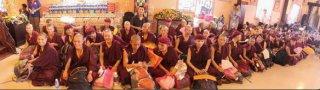 Nonnes pratiquant